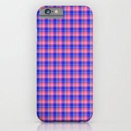 Pink Blue Scottish Tartan iPhone Case