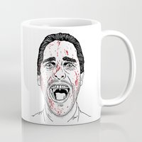 american psycho Mugs featuring American Psycho. by Saul Art