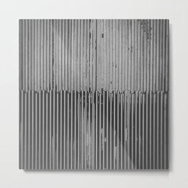 Texture Study: Metal Escalator Metal Print