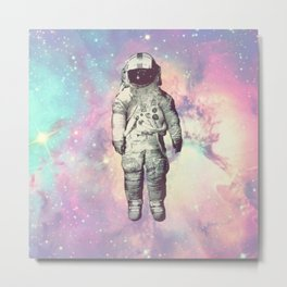 Astronaut in Space (Spaceman in Galaxy) Metal Print