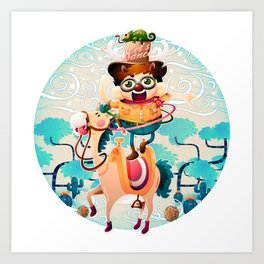 The dancing cowboy Art Print