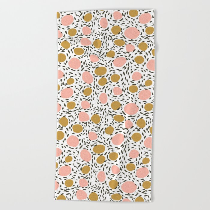 Pebbles cute pattern gender neutral dorm college abstract design minimal modern earth nature Beach Towel