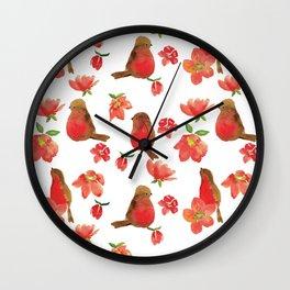 Hello Robin - White Version Wall Clock