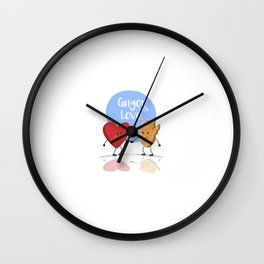 Ginger with Love Wall Clock