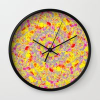 psychedelic Wall Clocks featuring Psychedelic by Sandra Arduini
