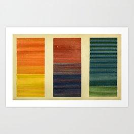 Antique Color Grades Art Print