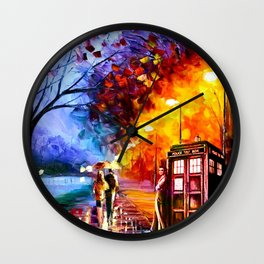 Tardis And Dr.Who Wall Clock