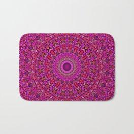 Deep Pink Garden Mandala Bath Mat