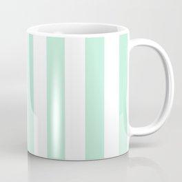 Mint green and White stripes-vertical Coffee Mug