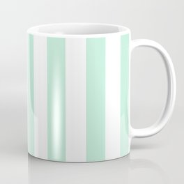 Mint green and White stripes-vertical Coffee Mug