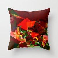 polygon Throw Pillows featuring polygon chaos by Matthias Hennig