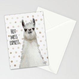 Hot Mess Llama Stationery Cards