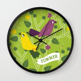 4 Seasons - Summer Wall Clock