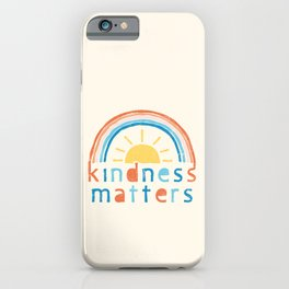 Kindness Matters. Typography Design with Rainbow iPhone Case