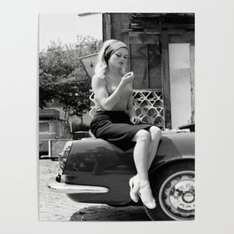 Brigitte Bardot Model Poster Art Canvas for Living Room Home Decor (No frame) Poster
