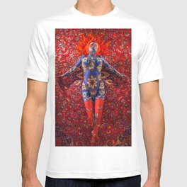 V30 Stunning Art Design Manipulation Moroccan Traditional Carpet. T-shirt