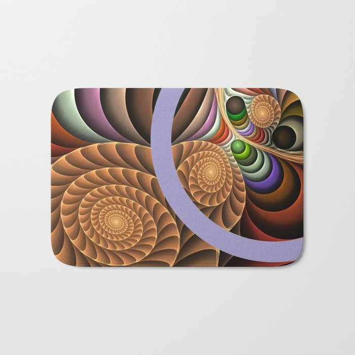 Pattern in motion, fractal geometric art Bath Mat