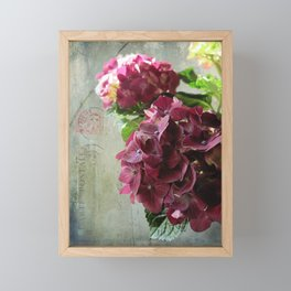 carte hydrangea Framed Mini Art Print