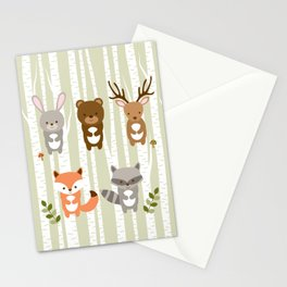 Cute Woodland Forest Animals Stationery Cards