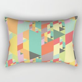 Pastel City Rectangular Pillow