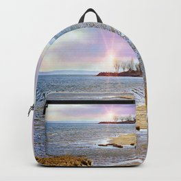 Sunset At The Beach - Tod's Point Backpack