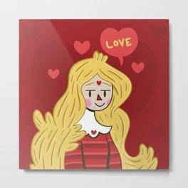 Love Princess Metal Print