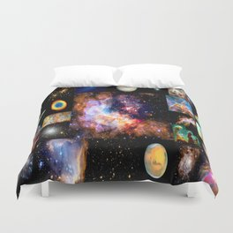 Space Galaxy Nebula Collage Duvet Cover
