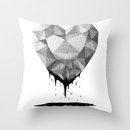 Dotted Heart Throw Pillow