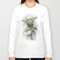 yoda Long Sleeve T-shirts featuring Yoda  by Olechka