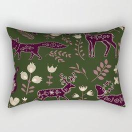 Folk Animal Print no.01 Rectangular Pillow