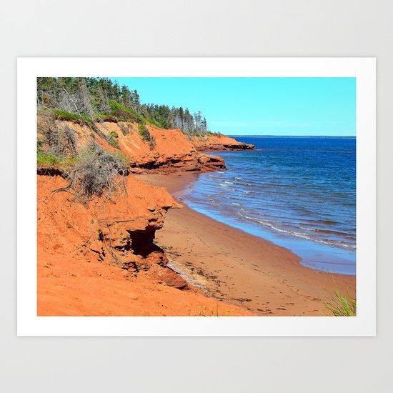 Red Cliffs of PEI Art Print