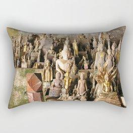 Buddha statues, Pak Ou Caves, Laos Rectangular Pillow