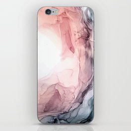 Blush and Blue Dream 1: Original painting iPhone Skin