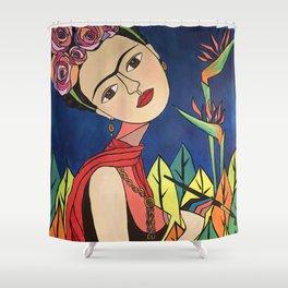 Frida Khalo Painting Shower Curtain