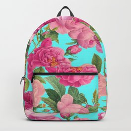Vintage & Shabby Chic - Summery Rose Pattern Backpack