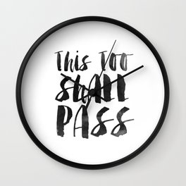 Inspirational Quote This Too Shal Pass Printable Quote Print Typography Print Quote Typography Print Wall Clock