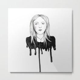 Blond dripping girl Metal Print