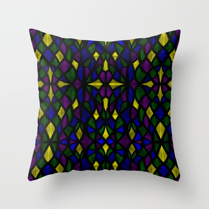 Stained Glass Scales Throw Pillow