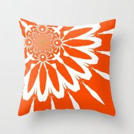 The Modern Flower Orange Throw Pillow