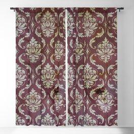Vintage Antique Eggplant-Colored Wallpaper Pattern Blackout Curtain