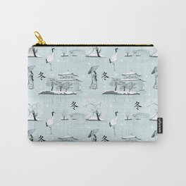 Japanese Toile Carry-All Pouch