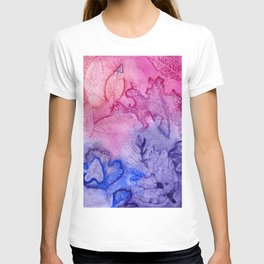 Watercolor abstract leaves II T-shirt