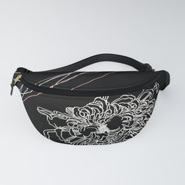 black and white 2 Fanny Pack