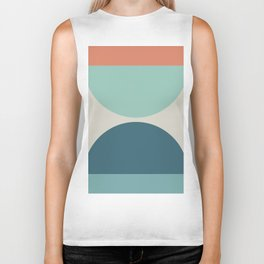 Abstract Geometric 22 Biker Tank