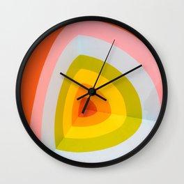 Multi Colour Corner Wall Art Wall Clock