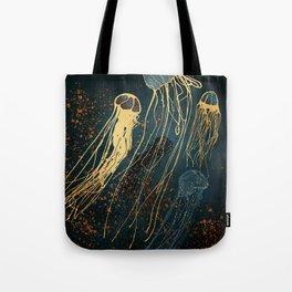 Metallic Jellyfish Tote Bag