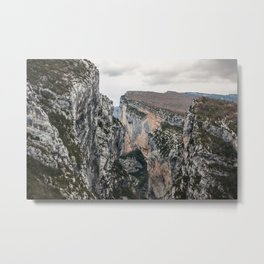 French Gorges in the winter Metal Print