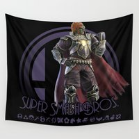 super smash bros Wall Tapestries featuring Ganondorf - Super Smash Bros. by Donkey Inferno
