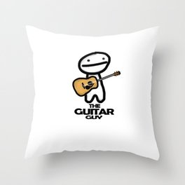 The Guitar Guy Throw Pillow