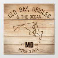 maryland Canvas Prints featuring Maryland by Home State